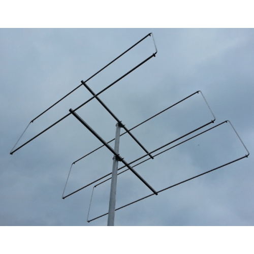3 element 144MHz LFA-Q Super-Gainer Quad Style Yagi