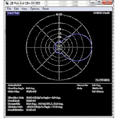 6 element 21MHz OP-DES Yagi (11.3m)