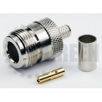 N Female Connector For RG58 / RG142 / RG223 / RG400 / LMR195 / RFC195