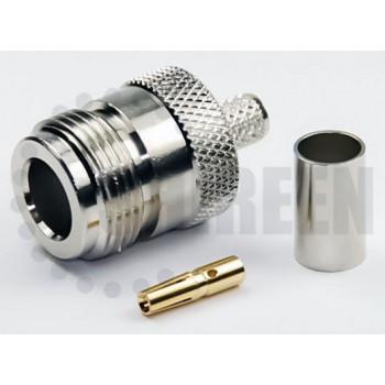 N Female Connector For RG58 / RG142 / RG223 / RG400 / LMR195 / RFC195