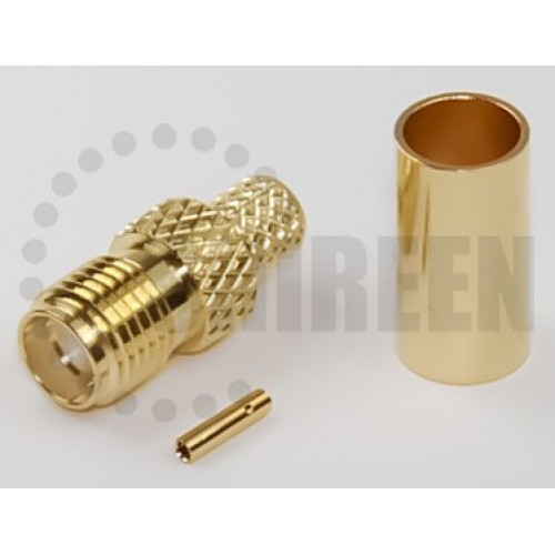 SMA Female Connector for RG58 / RG142 / RG223 / RG400 / LMR195 / RFC195