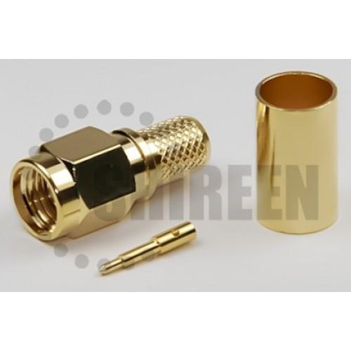 SMA Male Straight Connector For RG58 / RG142 / RG223 / RG400 / LMR195 / RFC195