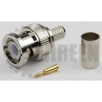 BNC Male Connector for RG8x / LMR240 / LMR240UF / RFC240 / RFC240UF