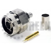 N Male Connector For RG8x / LMR240 / LMR240UF / RFC240 / RFC240UF