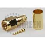 SMA Male Connector For RG8x / LMR240 / LMR240UF / RFC240 / RFC240UF