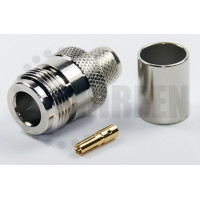 Type N Female Connector For RG8U/RG213/LMR400/LMR400UF/RFC400/RFC400DB/RFC400UF cables